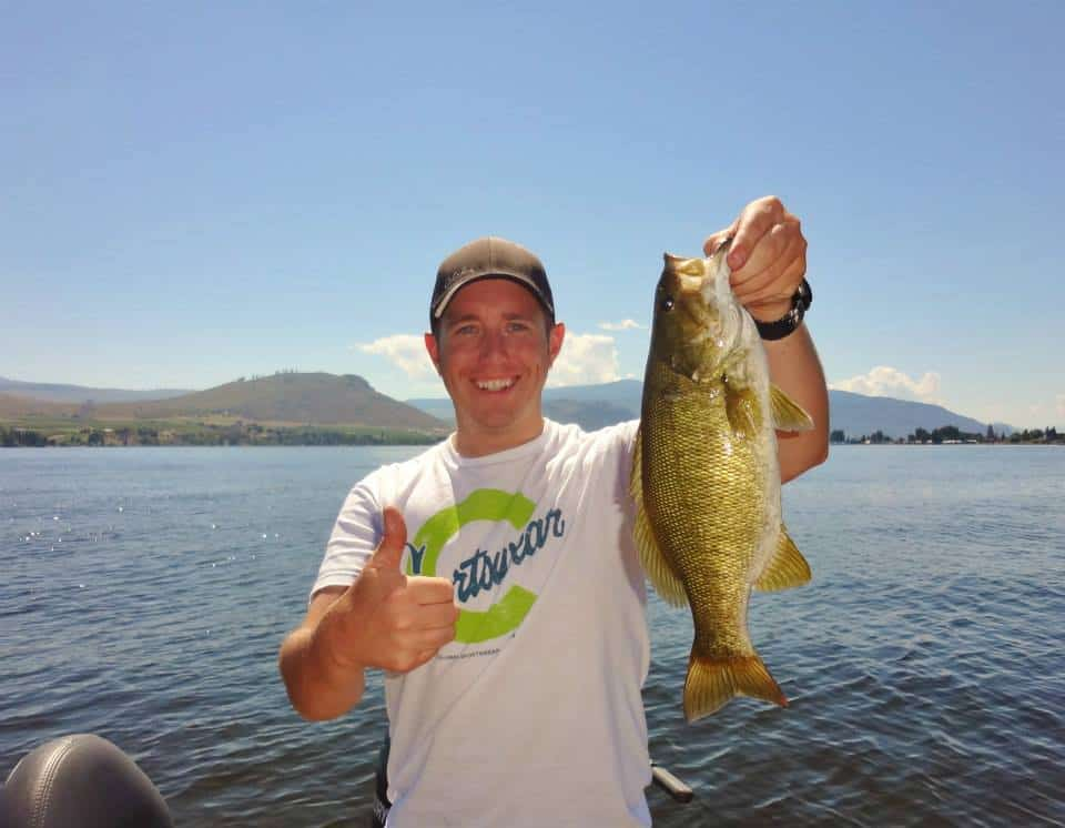 Early summer smallmouth bass fishing on osoyoos lake bc for Smallmouth bass fishing