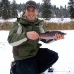 Ice Fishing for Rainbow Trout Using Weed Lines