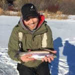 Tip – Drilling Holes When Ice Fishing for Rainbow Trout