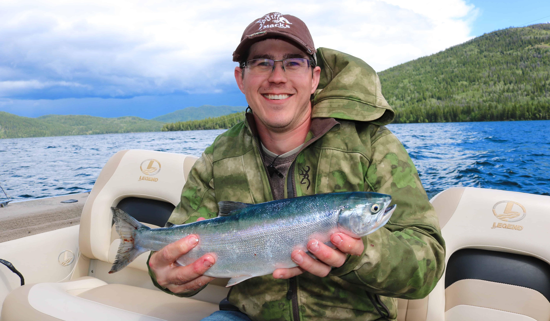 Kokanee fishing the bc cariboo bridge deka lake for Larry king fish oil