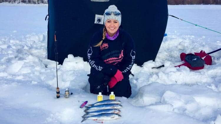 Ice Fishing Kokanee in British Columbia