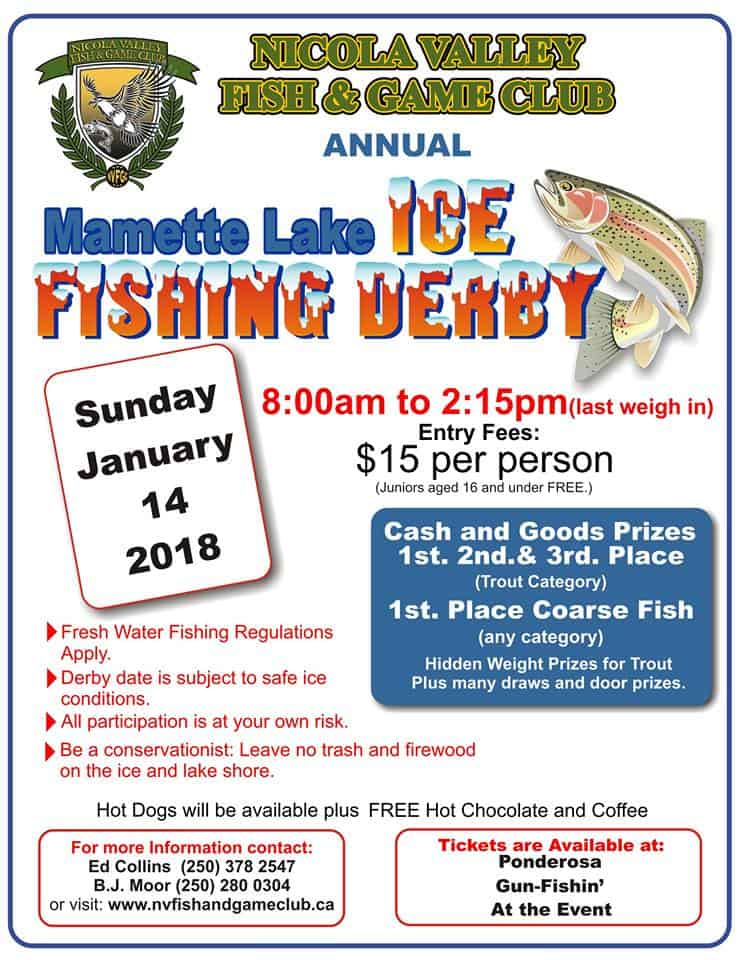 Mamette lake ice fishing derby 2018 bc fishn for Ice fishing derby game