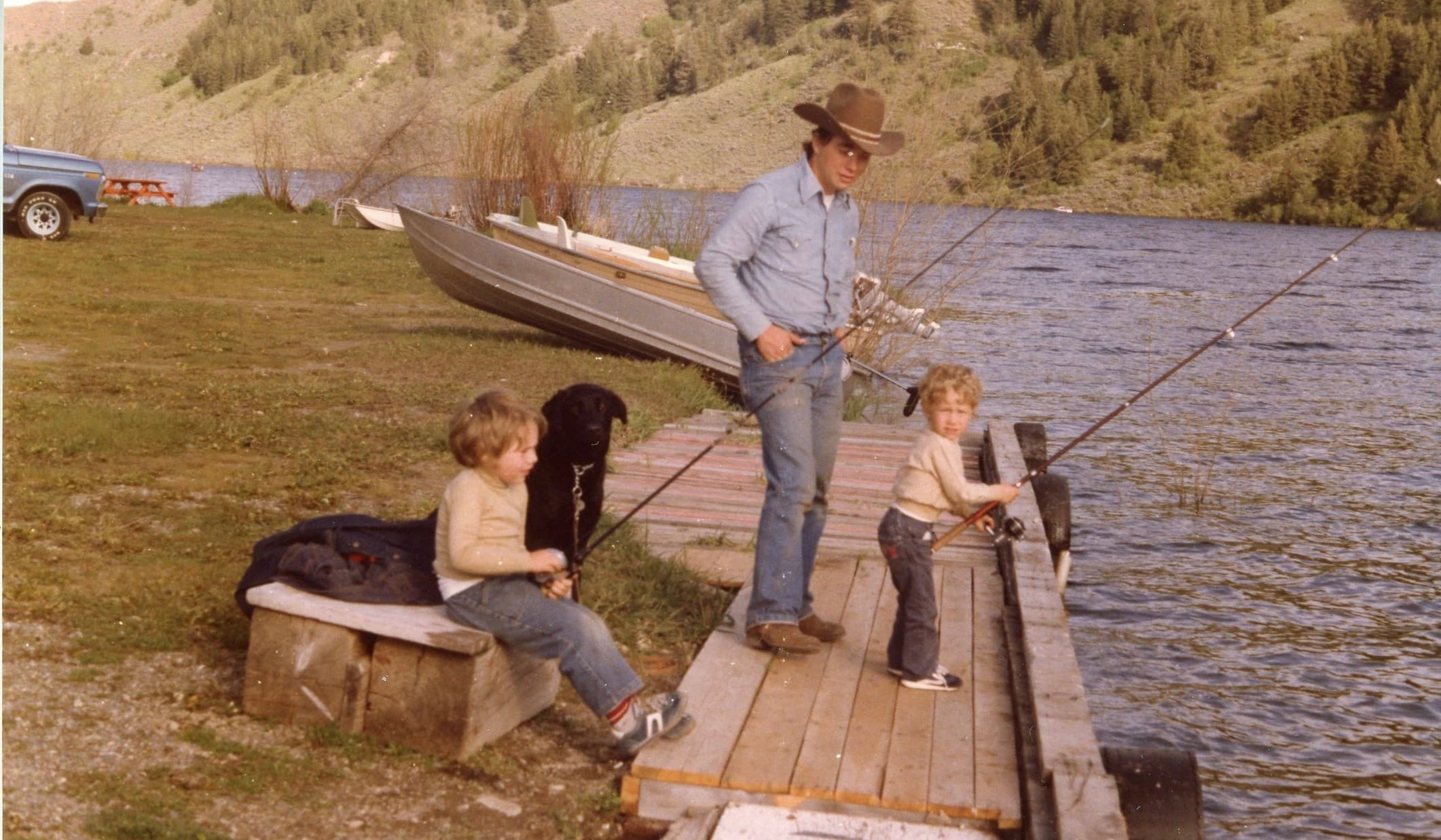 Danny, his Brother Spencer and their Dad on their first fishing trip ever!