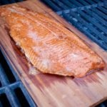 Maple Glazed Cedar Plank Trout